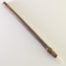 "Medium size 1"" bristle length Stiff White Synthetic, with bamboo cane handle."