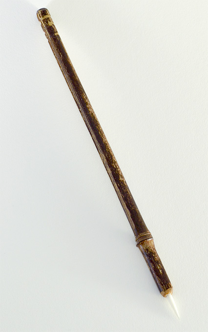 """1/2"""" long bristle Soft White Synthetic, with bamboo cane handle."""