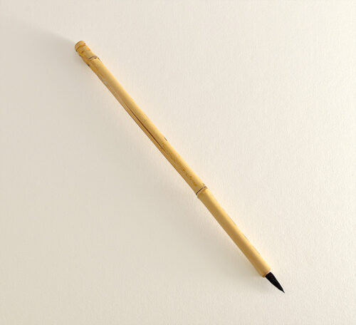 "Small Diameter Goat hair brush with 1/2"" long handle"