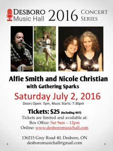 2016-07-02 Alfie Smith & Nicole Christian and Gathering Sparks