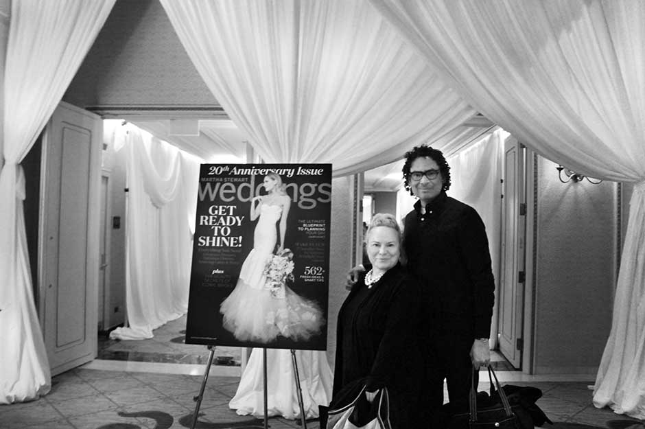 Darcy McGrath and Patric Chauvez at Martha Stewart Wedding Party Event 2015 for TWOmuchSTYLE.com