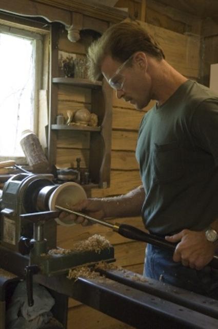 Wood Turning on the lathe