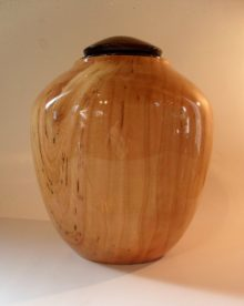 Wood Urn in Mixed Wood
