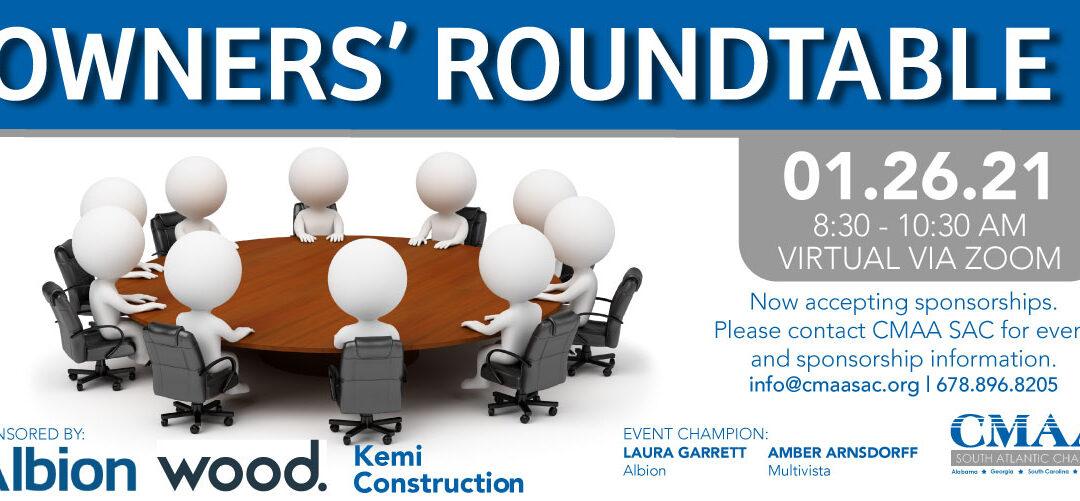 Breakfast Meeting   Owners' Roundtable