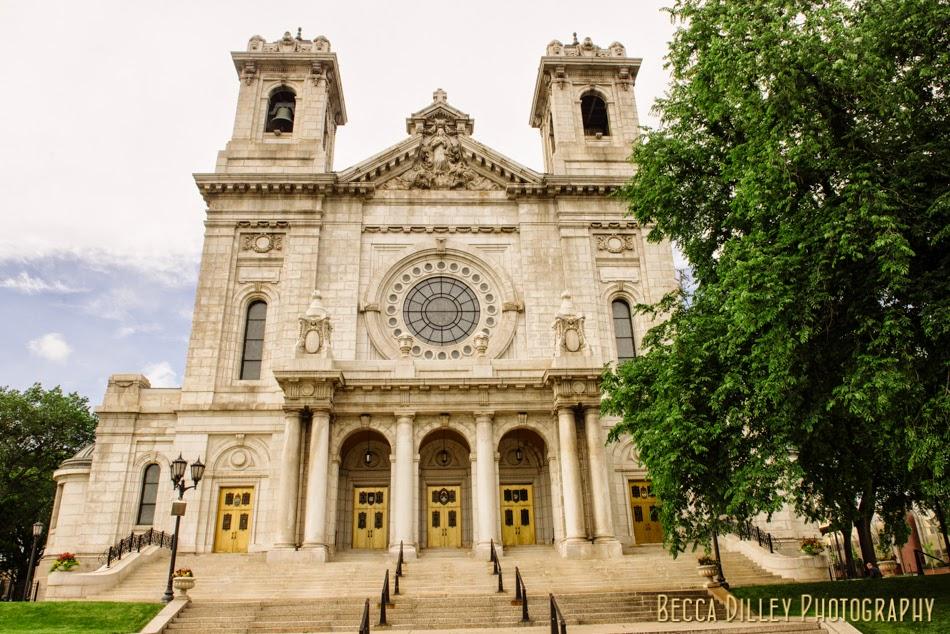Summer Wedding: Caroline & Joe   Basilica of St. Mary & MN History Center <p>