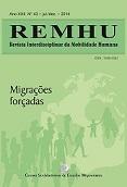 Capa da edição 43 da REHMU, que trata de migrações forçadas. Crédito: Divulgação