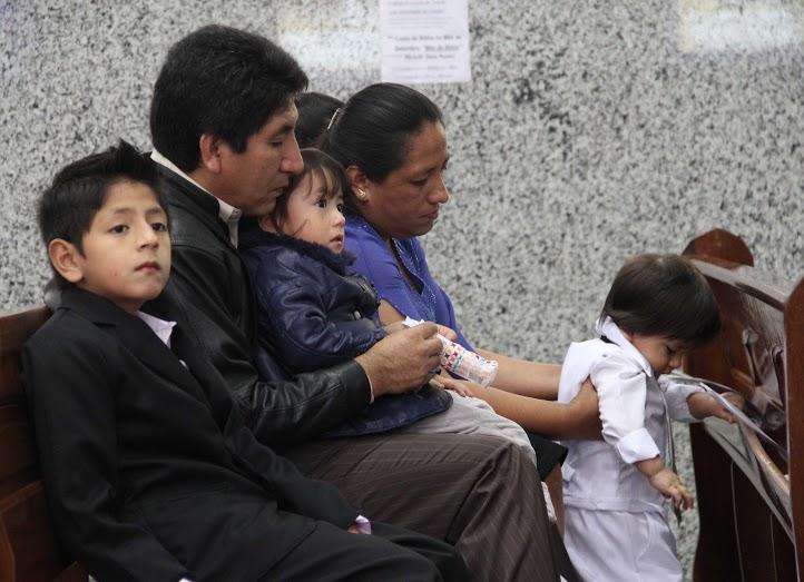 Bernardo Rivera y su familia en São Paulo. Crédito: Eduardo Schwartzberg
