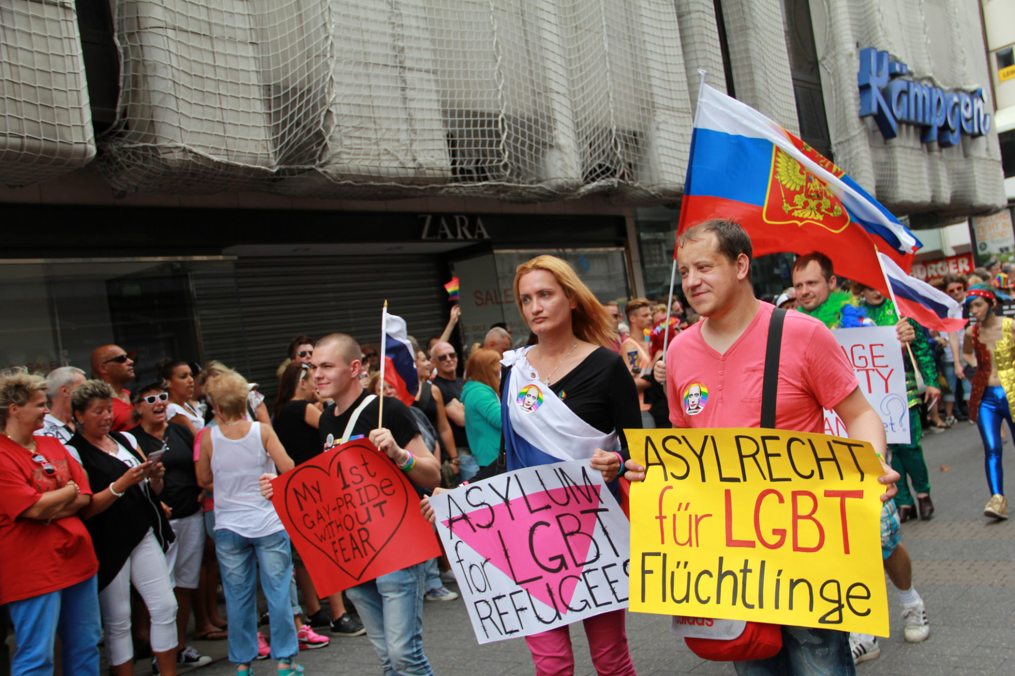 Manifestação pró-LGBTI em Colônia, Alemanha. Crédito: culturetastic/Flickr