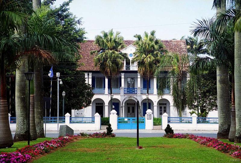 O Museu Nacional de Imigração e Colonização, localizado em Joinville (SC). Crédito: Divulgação