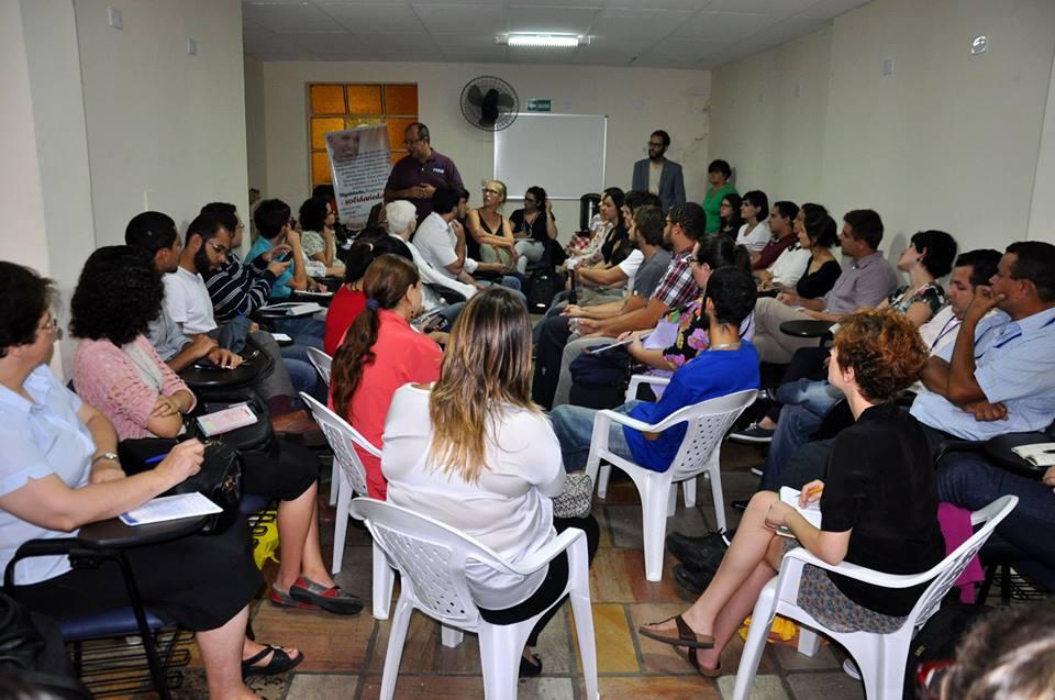 Salão do centro de acolhida para imigrantes da Prefeitura de São Paulo ficou pequeno durante encontro promovido pelo Sefras. Crédito: Divulgação/Sefras