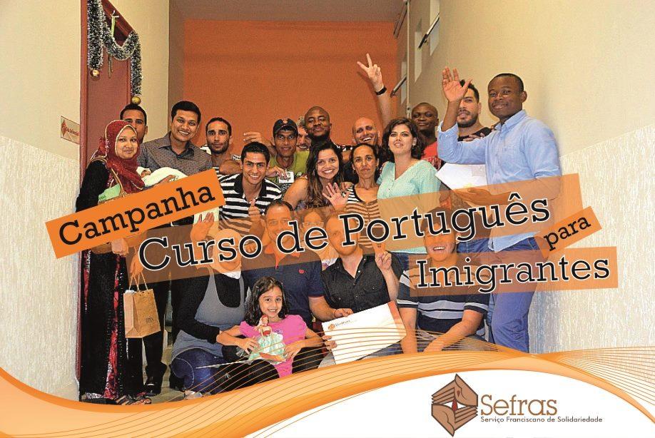 Alunos imigrantes que se formaram no curso de português oferecido pelo CRAI/Sefras em 2015. Crédito: Divulgação