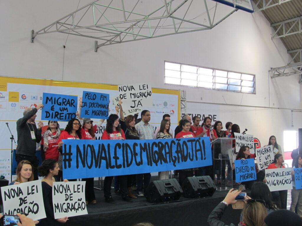 Fórum vira ponto de partida de mobilização para aprovação da Lei de Migração. Crédito: Rodrigo Borges Delfim/MigraMundo