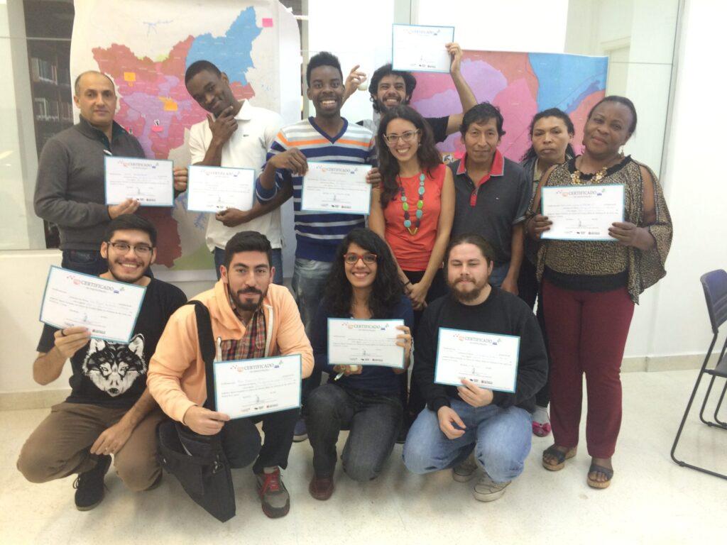 O projeto consiste em um curso de formação e ações de mobilização em torno dos problemas enfrentados pelos migrantes na hora de saber seus direitos e obter informações públicas. Crédito: Divulgação