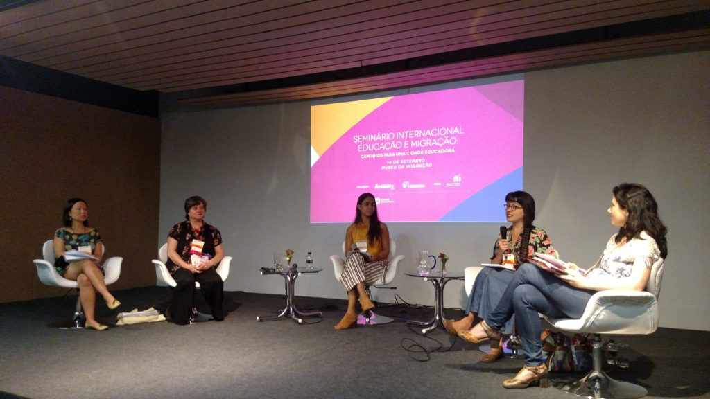 Evento reuniu estudiosos, educadores, migrantes, entre outros interessados no tema. Crédito: Rodrigo Borges Delfim/MigraMundo