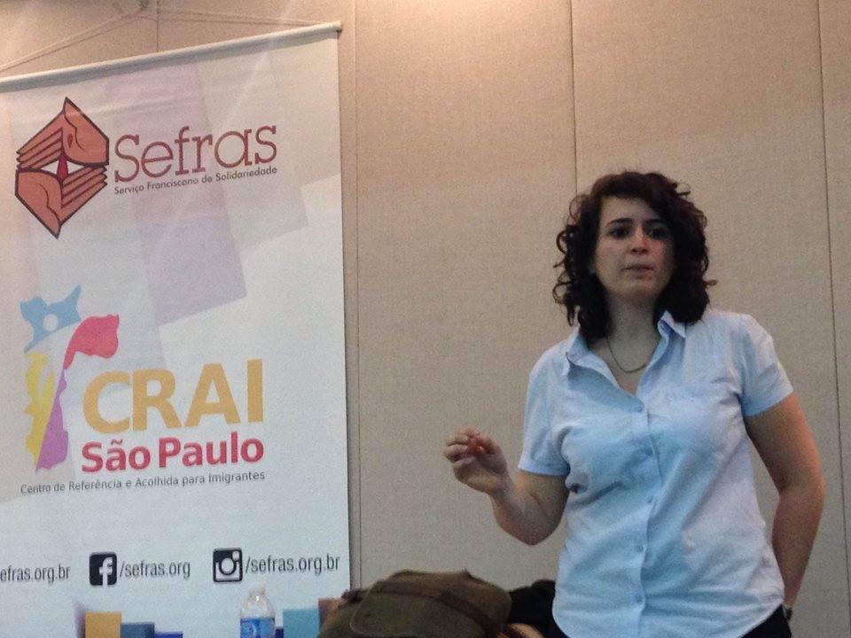 Segundo Ana, o mesmo sistema político-econômico que produz os deslocamentos em massa também prolifera discursos de ódio e intolerância. Crédito: Fabio Ando Filho