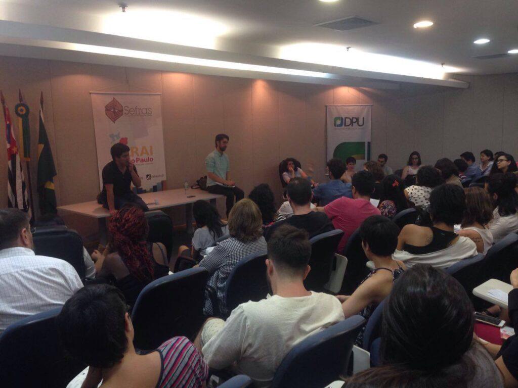 Roda de conversa debateu a situação de imigrantes LGBT na cidade de São Paulo. Crédito: Fabio Ando Filho