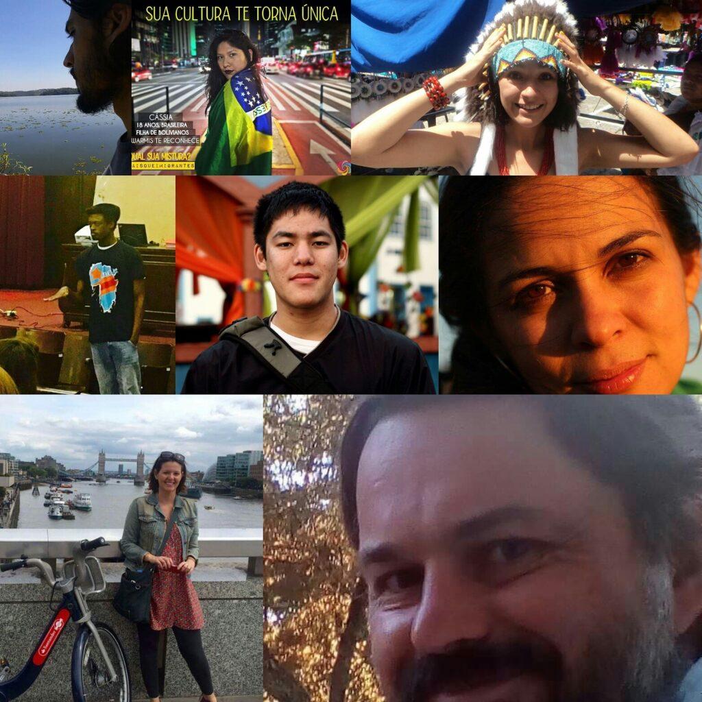 """Nas redes sociais, pessoas de diferentes origens mostram suas """"misturas"""" e aderem à campanha. Crédito: Montagem/Reprodução/Facebbok"""