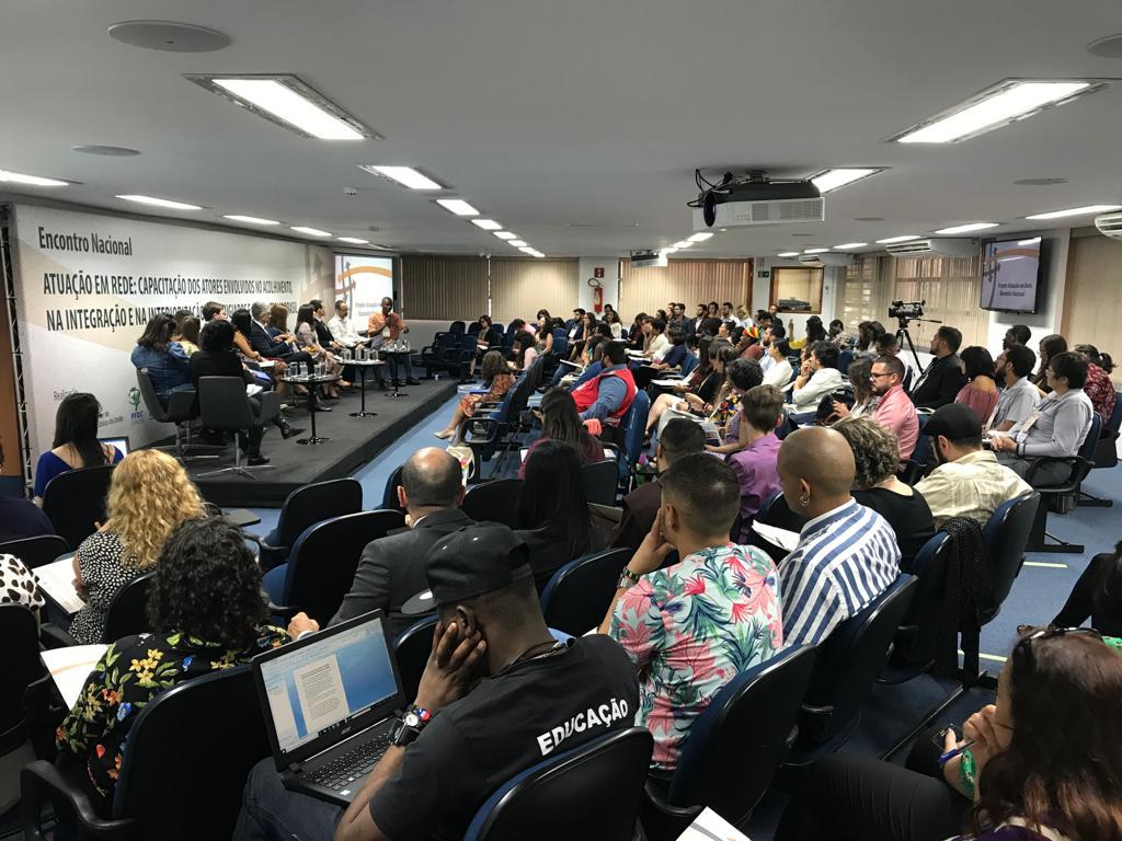 Auditório da ESMPU durante o primeiro do dia do encontro nacional da Rede de Atuação.