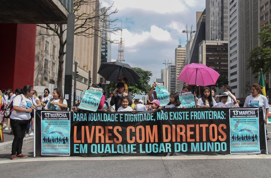 Cartaz da Marcha dos Imigrantes 2019