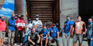 Entrega de doações de cestas básicas e kits de higiene em São Paulo pela África do Coração em parceria com a Cruz Vermelha e Projeto Parabéns no dia 3 de maio de 2020
