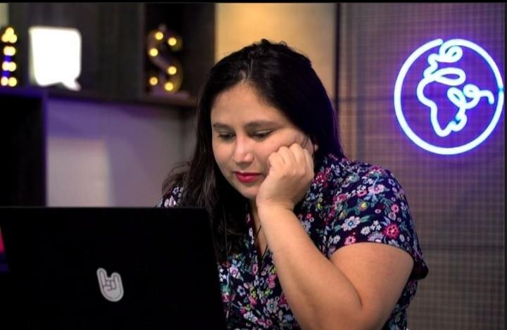A jornalista peruana Katherine Rivas, que vive no Brasil desde 2012 e se especializou em jornalismo econômico