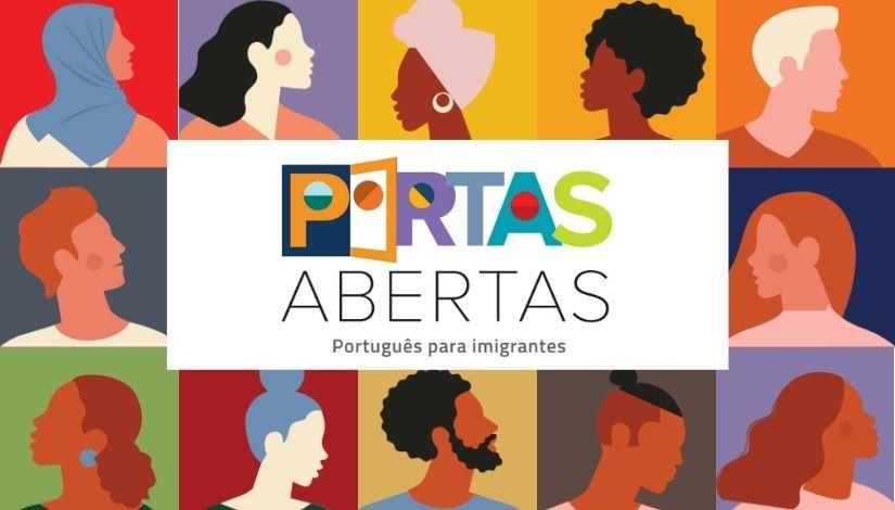 Capa da Coleção Portas Abertas, desenvolvida pela Prefeitura de São Paulo para o ensino de português para imigrantes