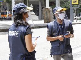 Recenseadores do IBGE em simulação para o Censo 2021. Pesquisa está ameaçada neste ano e sua não-realização gera um 'apagão' de dados sobre o Brasil, incluindo a temática das migrações