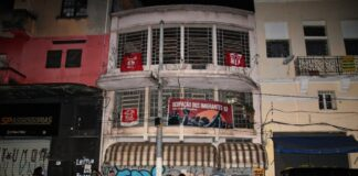"""Prédio no bairro da Liberdade, em São Paulo, que se transformou na """"Ocupação de Imigrantes Jean-Jacques Dessalines"""""""