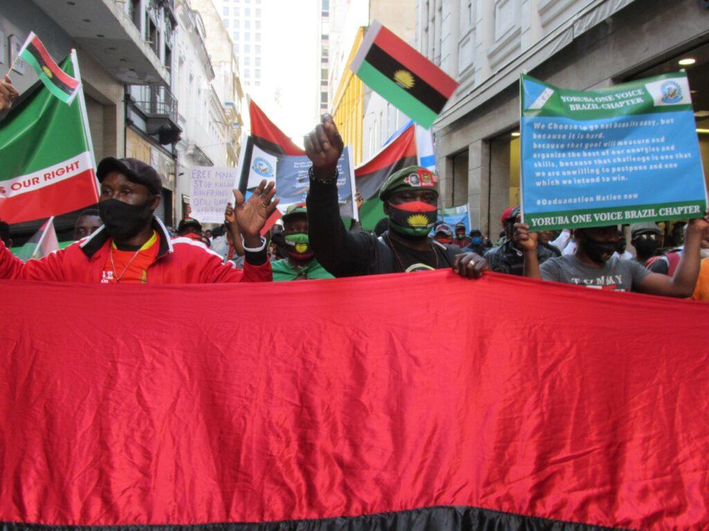 liberdade, promovido por povos nigerianos em São Paulo