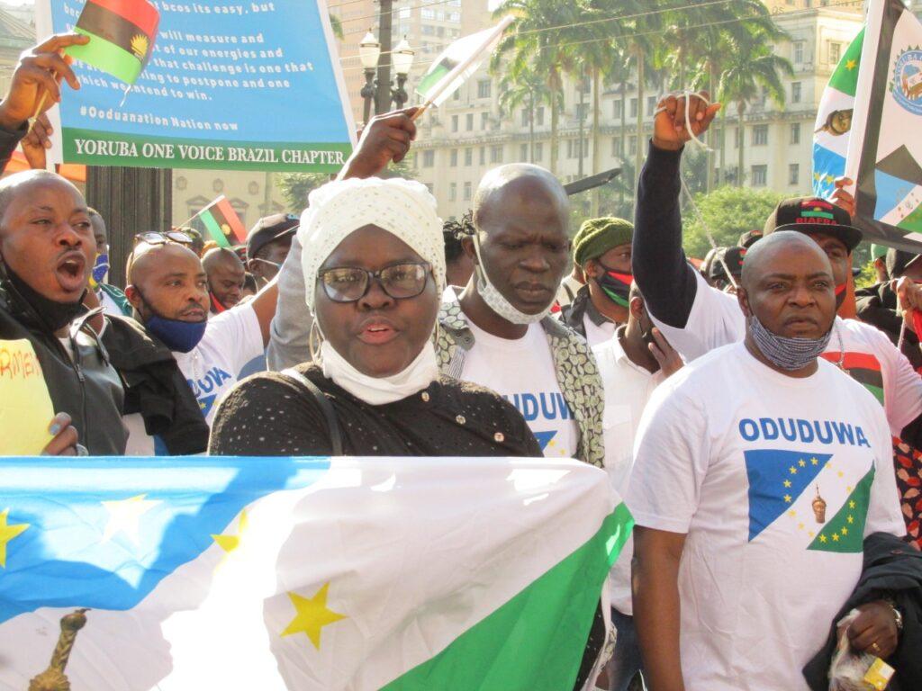 Ato pela paz e liberdade, promovido por povos nigerianos que vivem em São Paulo