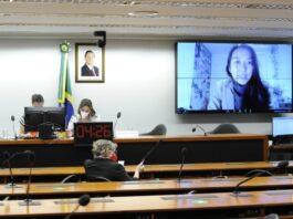 Apresentação de Camila Asano, da Conectas Direitos Humanos, em Audiência Pública sobre Regularização migratória e fechamento de fronteiras.