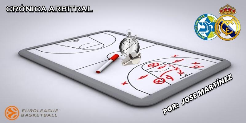 CRÓNICA ARBITRAL   Maccabi Tel Aviv vs Real Madrid   Euroleague   Jornada 22