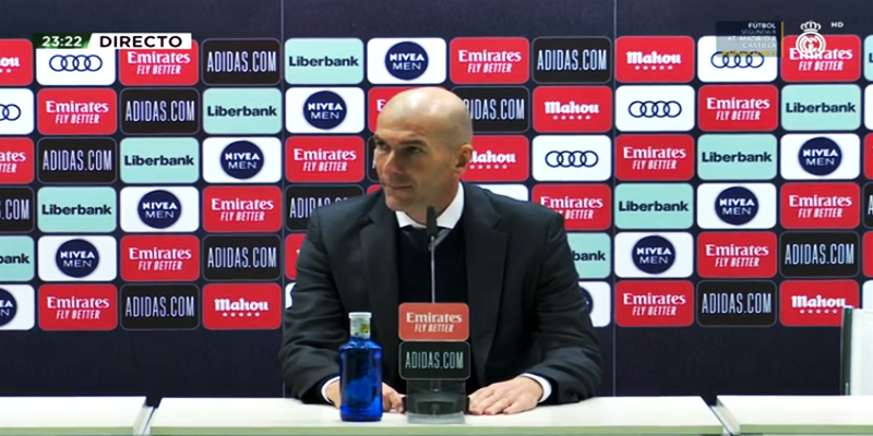 VÍDEO | Rueda de prensa de Zinedine Zidane tras el partido ante el Sevilla