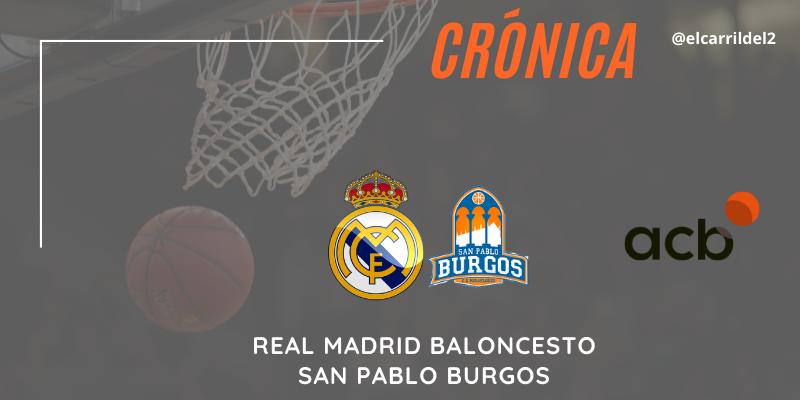 CRÓNICA | Tavares de record: Real Madrid 96 – 81 San Pablo Burgos