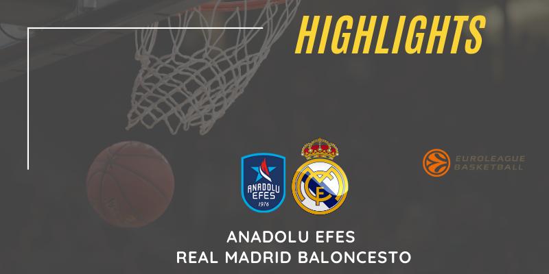 VÍDEO   Highlights   Anadolu Efes vs Real Madrid Baloncesto   Euroleague   Playoff   5º Partido