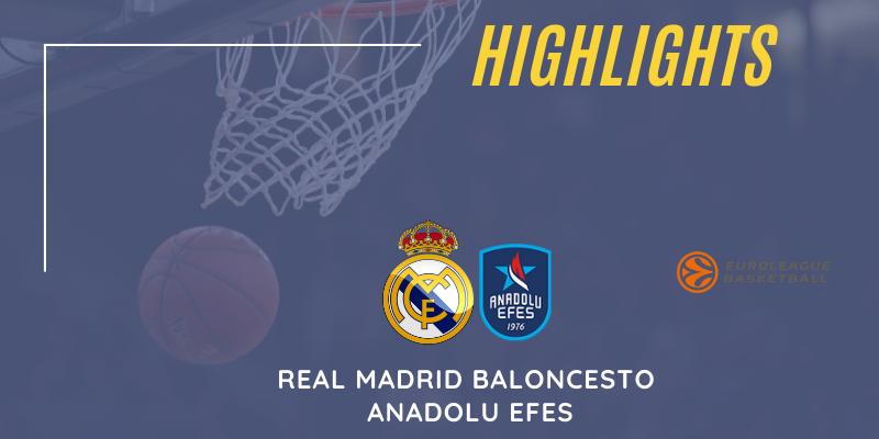 VÍDEO   Highlights   Real Madrid Baloncesto vs Anadolu Efes   Euroleague   Playoff   4º Partido