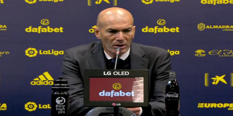 VÍDEO | Rueda de prensa de Zinedine Zidane tras el partido ante el Cádiz