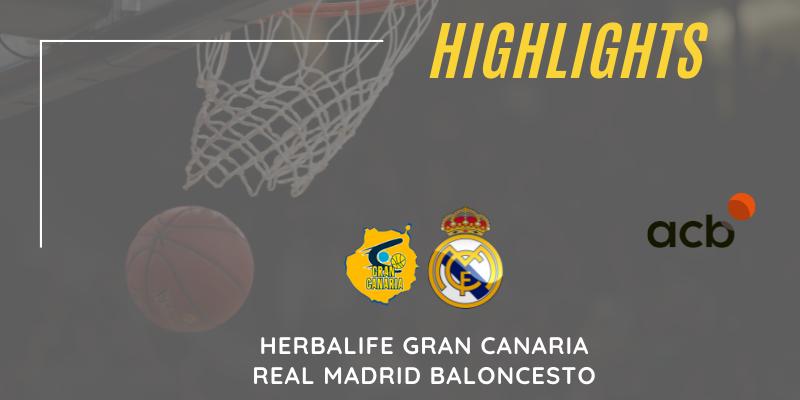 VÍDEO   Highlights   Herbalife Gran Canaria vs Real Madrid Baloncesto   Liga Endesa   Playoff   Partido 2