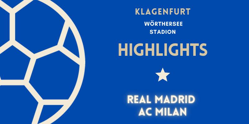 VÍDEO   Highlights   Real Madrid vs AC Milan   Pretemporada   Amistoso