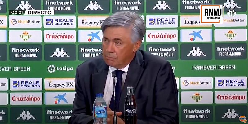 VÍDEO   Rueda de prensa de Carlo Ancelotti tras el partido ante el Betis