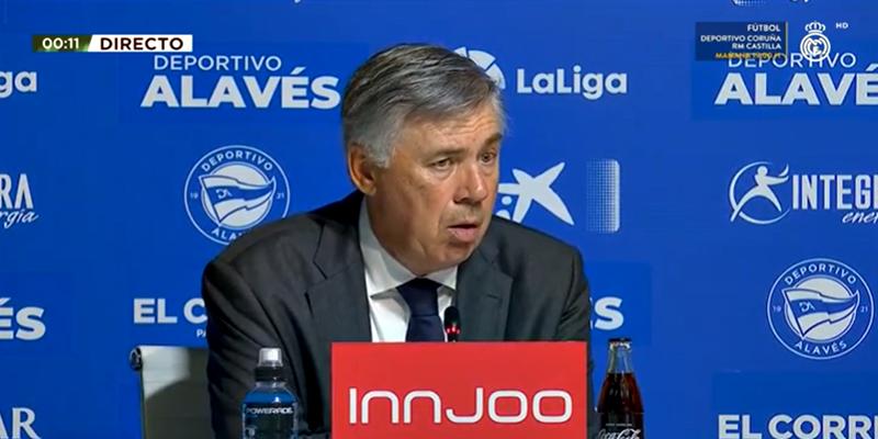 VÍDEO   Rueda de prensa de Carlo Ancelotti tras el partido ante el Alavés