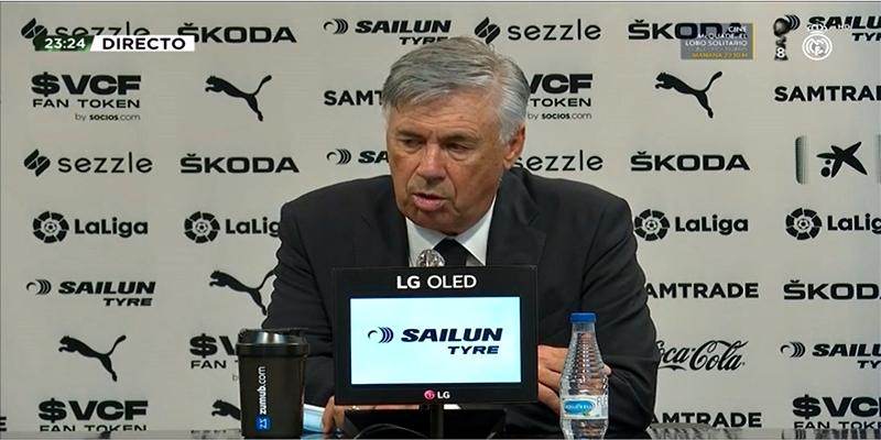 VÍDEO | Rueda de prensa de Carlo Ancelotti tras el partido ante el Valencia