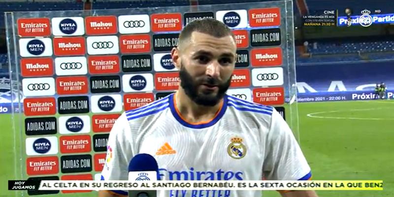 VÍDEO   Declaraciones de Karim Benzema tras el partido ante el Celta de Vigo