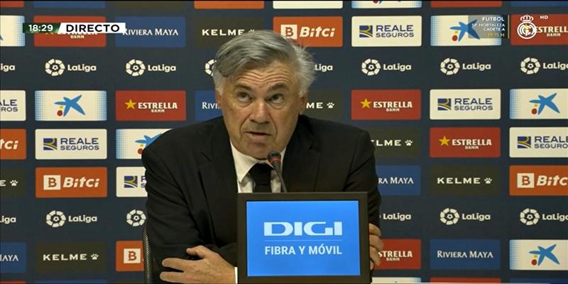 VÍDEO | Rueda de prensa de Carlo Ancelotti tras el partido ante el RCD Espanyol