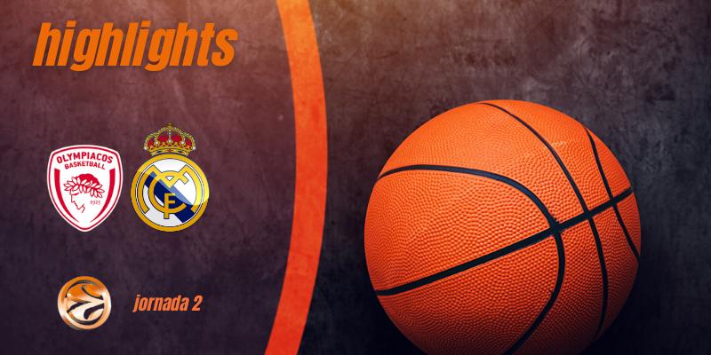 VÍDEO   Highlights   Olympiacos vs Real Madrid   Euroleague   Jornada 2
