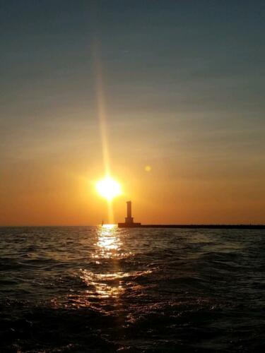 Enjoy the Lake Erie Sunset on Your Fishing Charter
