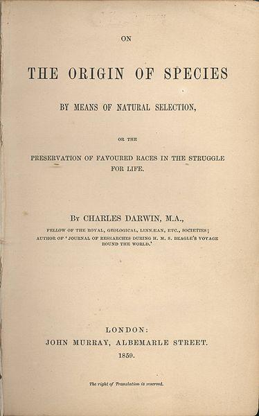 The Origin of Species, by Charles Darwin
