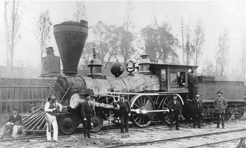 first steam engine train