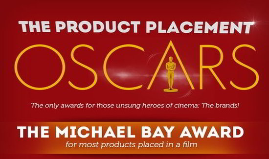 The Product Placements Oscars [Infographic]