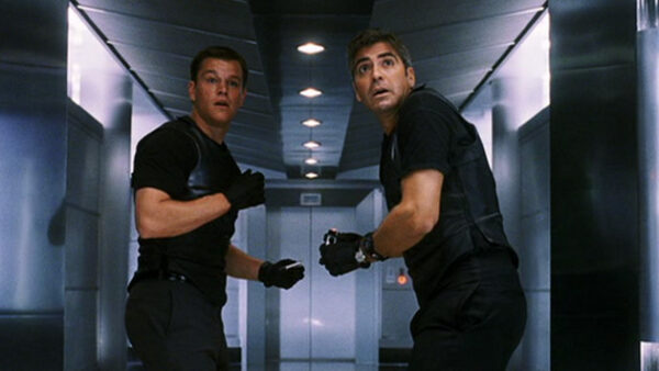 George Clooney in Oceans Eleven 2001
